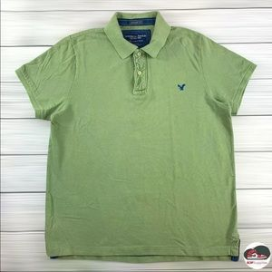 American Eagle Outfitters Vintage Fit Green 100% Cotton Polo Shirt Men's Size XL
